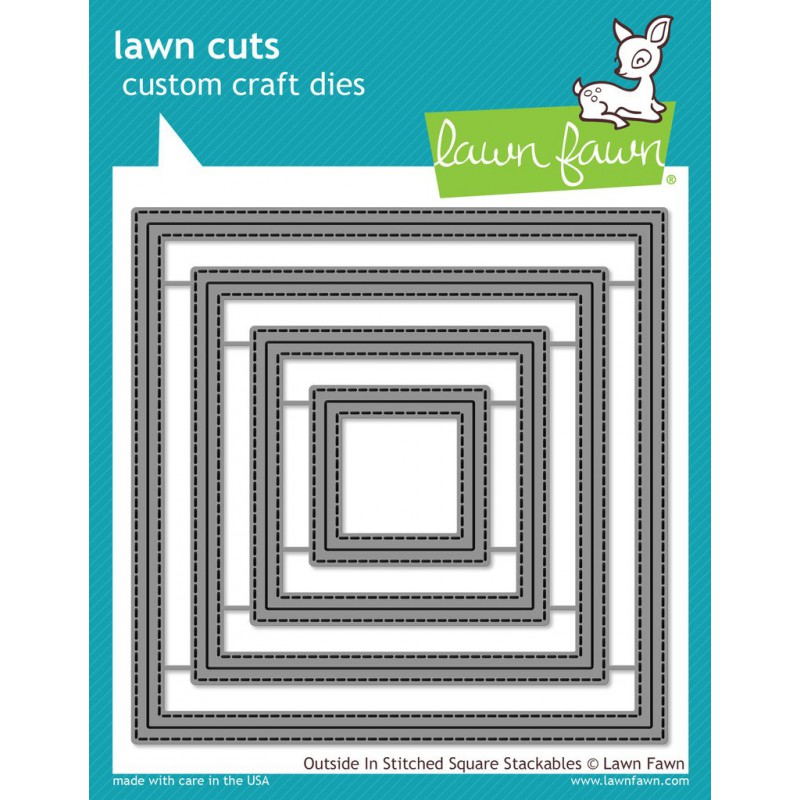 Lawn Fawn - Outside In Stitched Square Stackables - Stanze