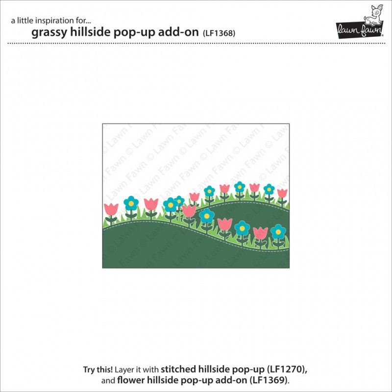 Lawn Fawn - Grassy Hillside Pop-Up Add-On - Stanze