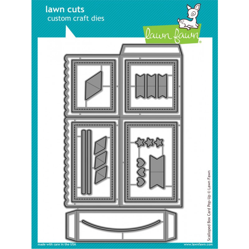 Lawn Fawn - Scalloped Box Card Pop-Up - Stanze