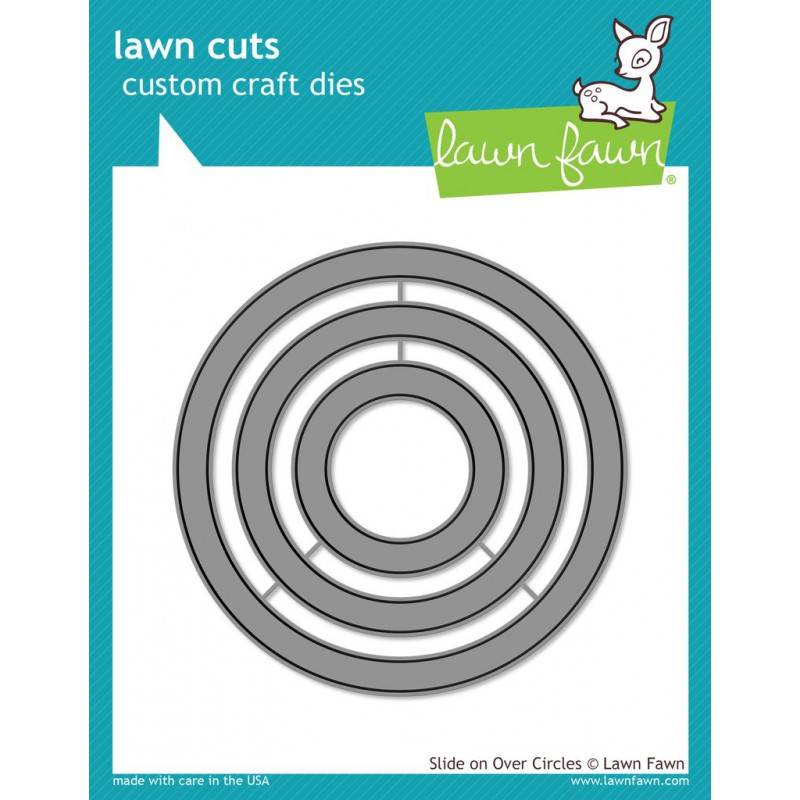Lawn Fawn - Slide On Over Circles - Stanze