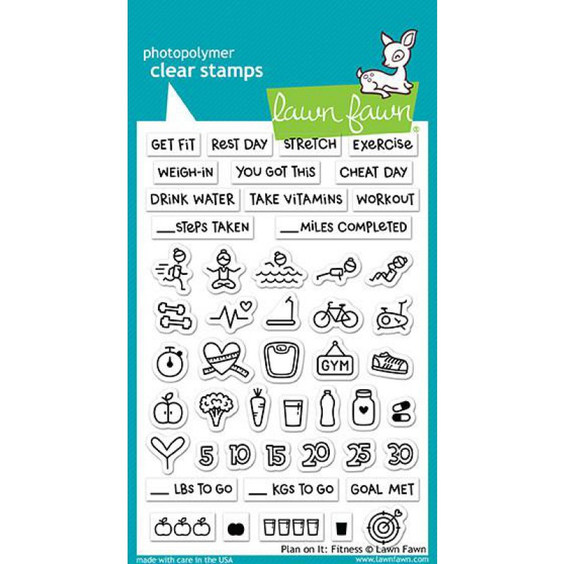 Lawn Fawn - Plan On It: Fitness - Clear Stamps 4x6