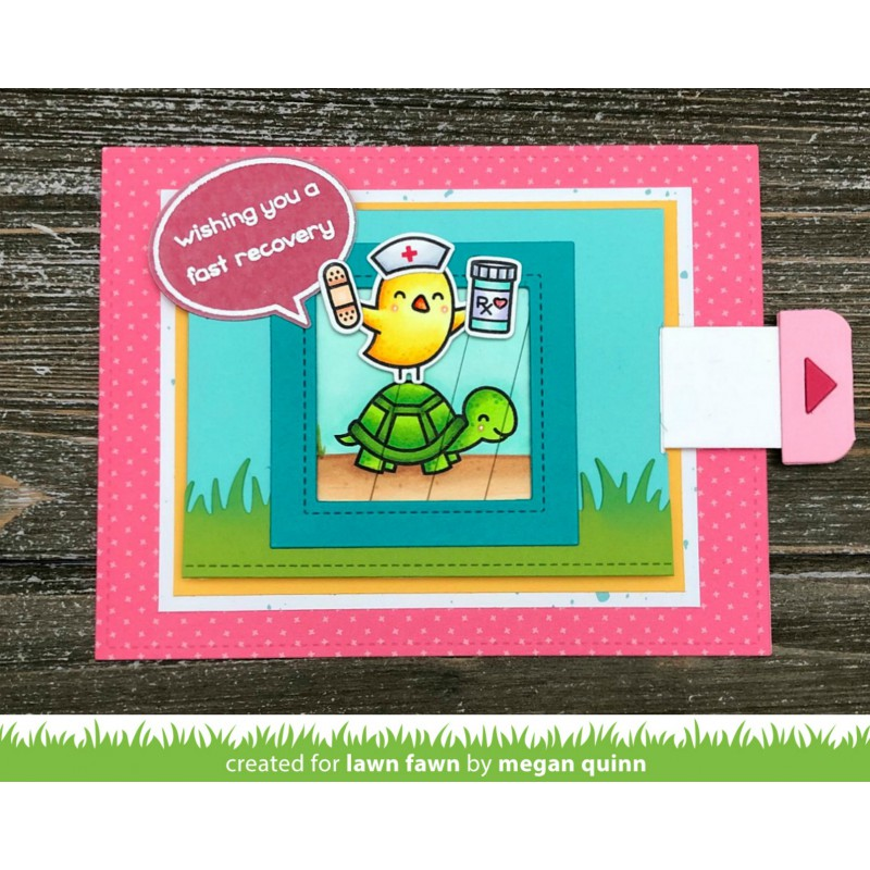 Lawn Fawn - Get Well Before 'n Afters - Clear Stamp 4x6