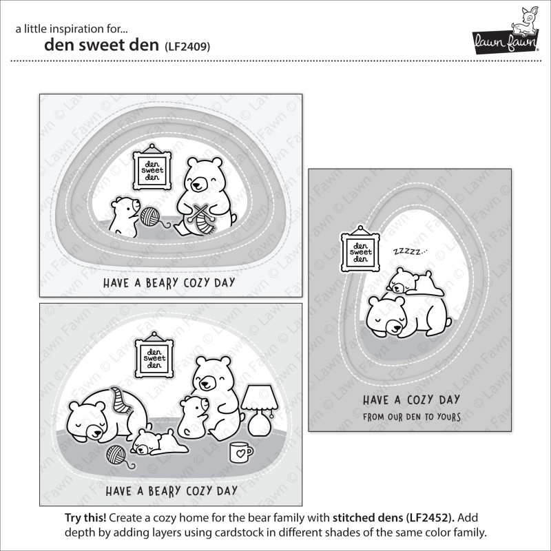 Lawn Fawn - den sweet den - Clear Stamp 4x6