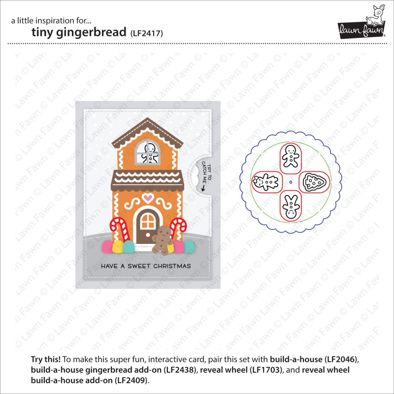 Lawn Fawn - tiny gingerbread - Clear Stamp 2x3