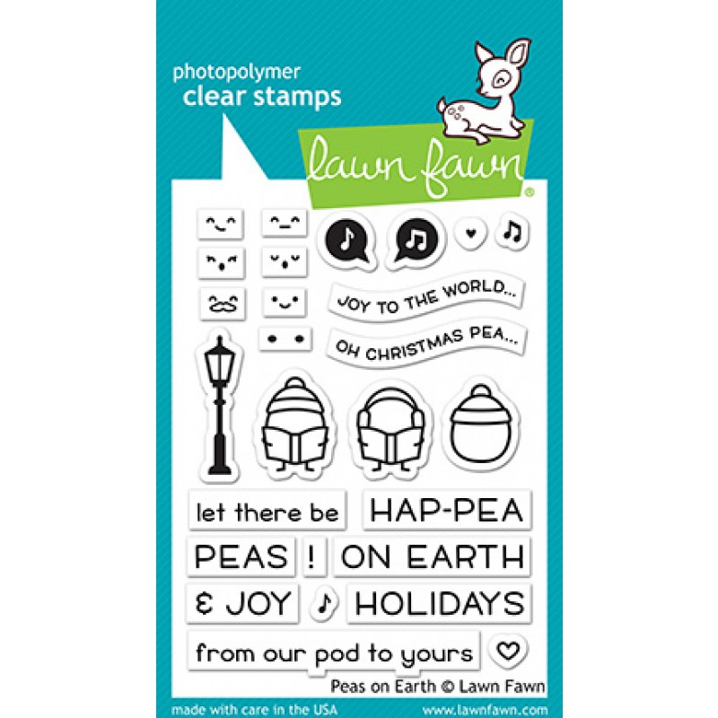 Lawn Fawn - peas on earth - Clear Stamp 3x4