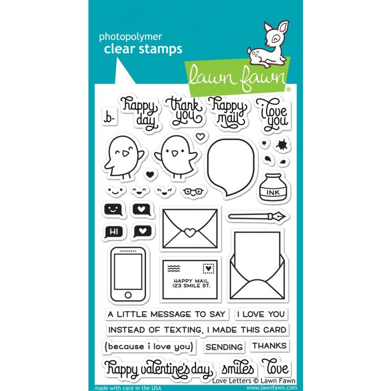 Lawn Fawn - Love Letters - Clear Stamp 4x6