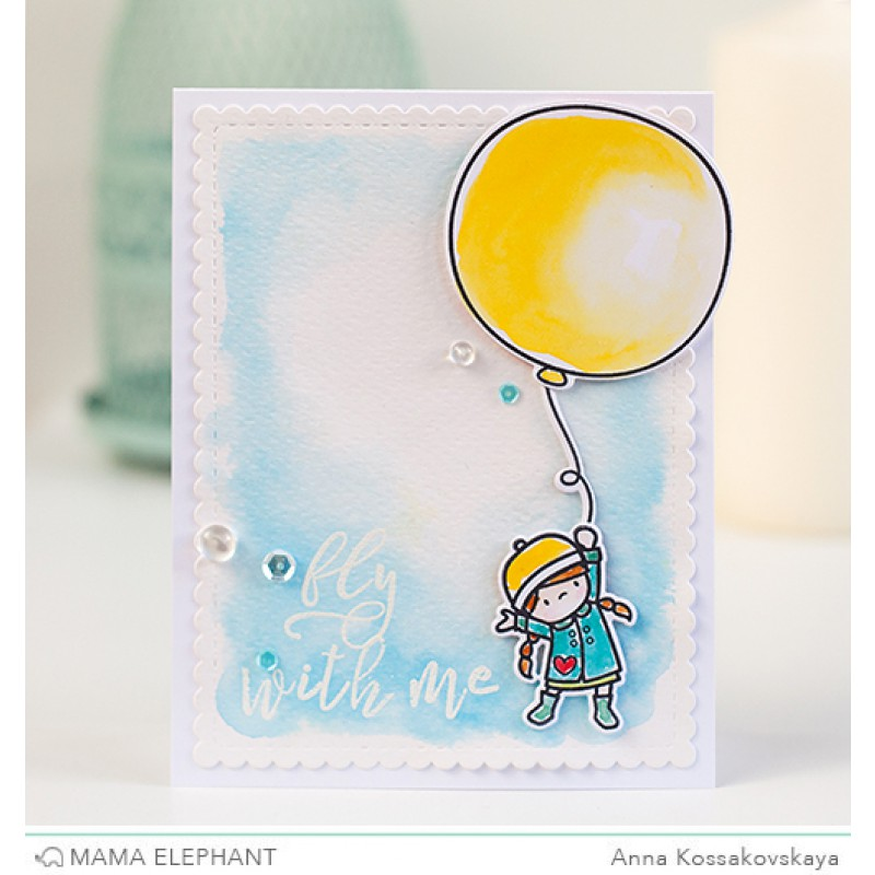 Mama Elephant - Calli Letters Clear Stamp