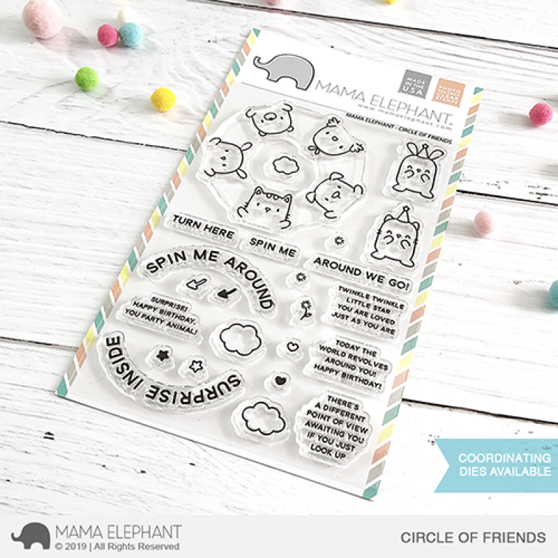 Mama Elephant - Circle of Friends - Clear Stamp 4x6