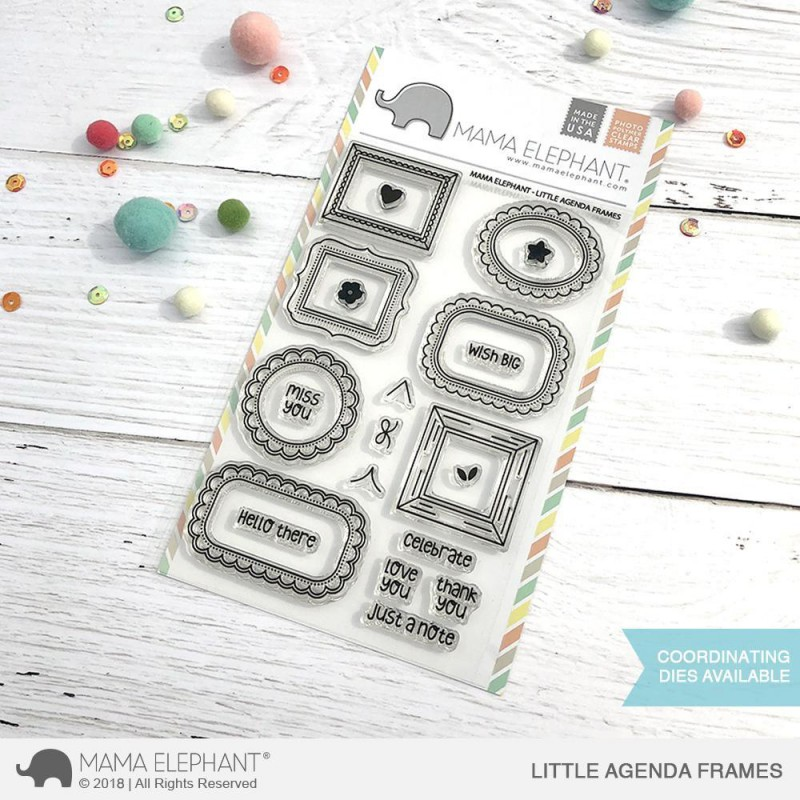Mama Elephant - Little Agenda Frames - Clear Stamp 4x6
