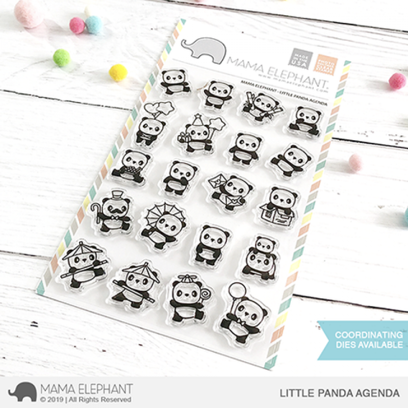 Mama Elephant - Little Panda Agenda - Clear Stamp 4x6