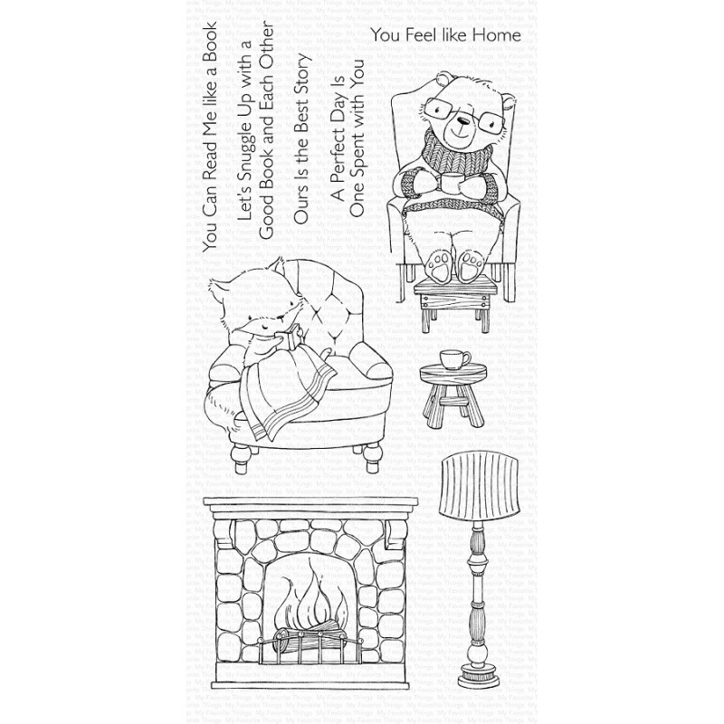 My Favorite Things - Cozy Companions - clear stamps