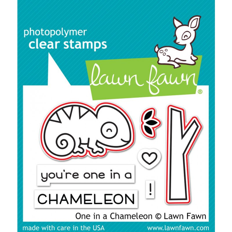 Lawn Fawn - One In A Chameleon - Stanzen
