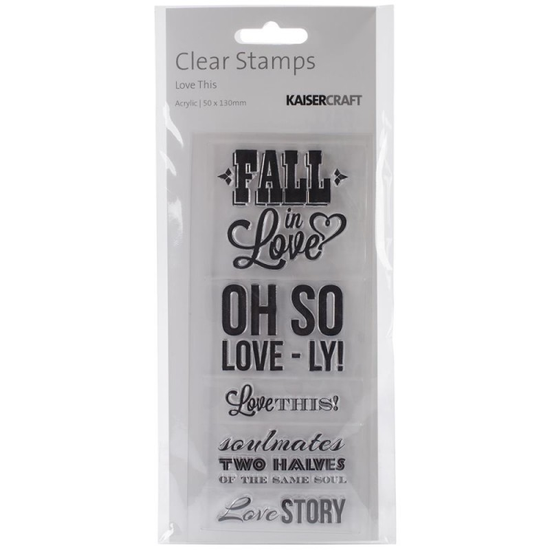 "Kaisercraft - Clear Stamps 2x5"" - Love This"