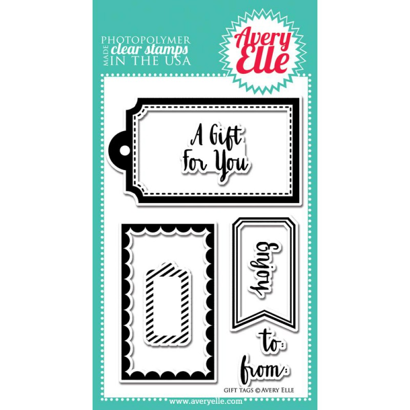 Avery Elle - Gift Tags - Clearstamps