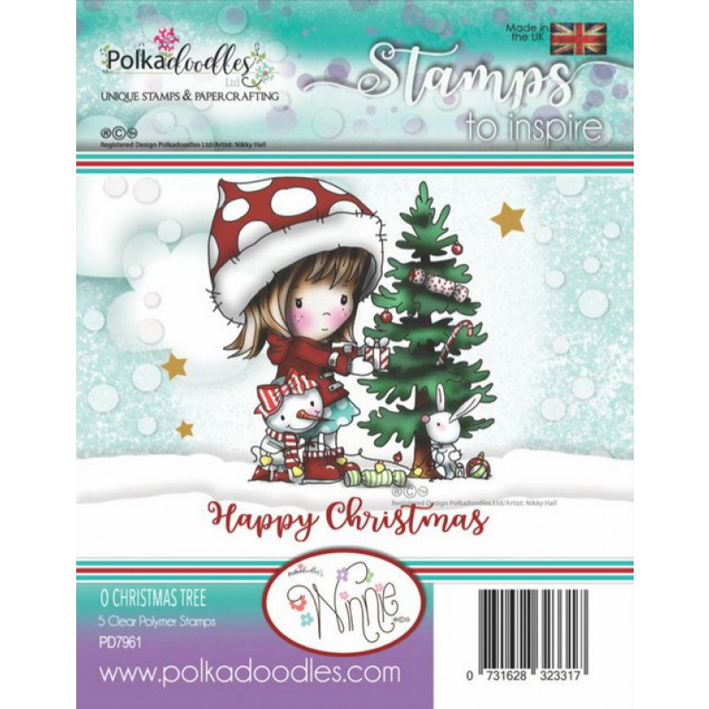 Polkadoodles - Clear Photopolymer Stamps - O Christmas Tree
