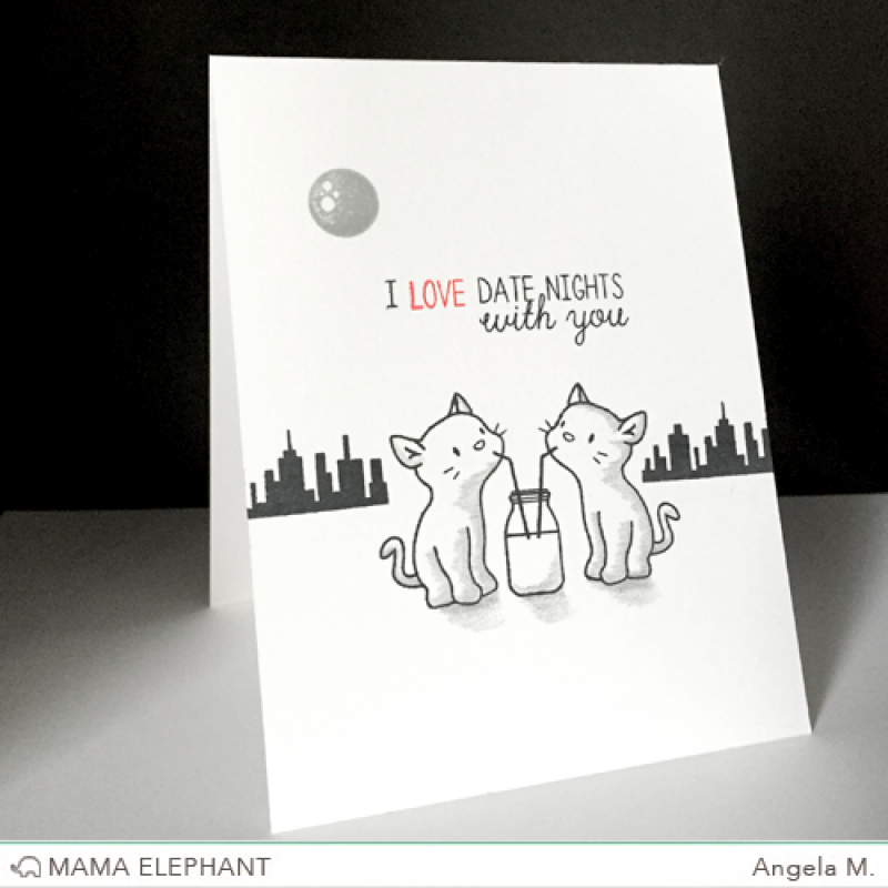 "Mama Elephant - Stempelset 4x6"" - Purrfect Pair"