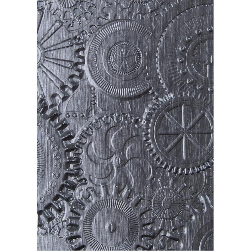 Sizzix 3D Embossing Folder By Tim Holtz - Mechanics