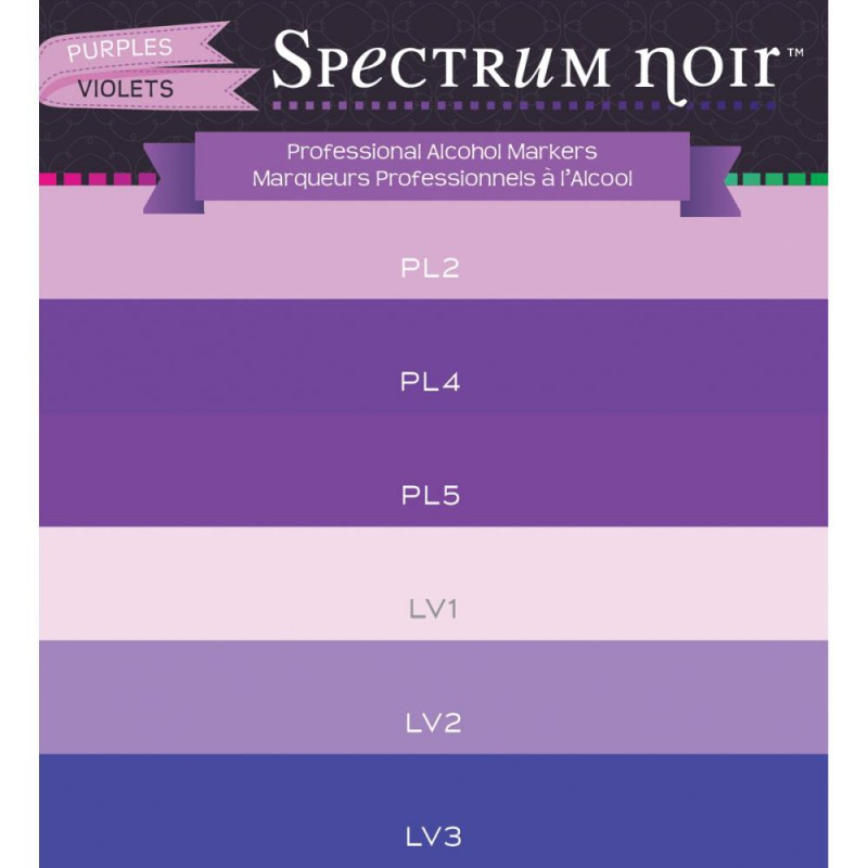 spectrum Noir - Alcohol Markers - Purples
