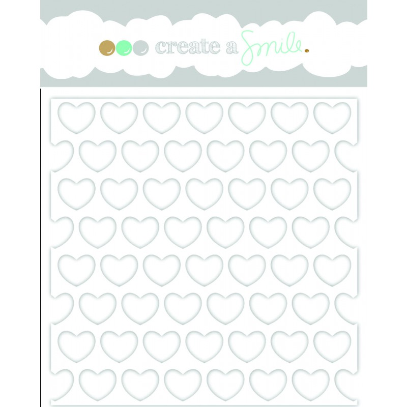 Create A Smile Stencil - Big Hearts Polka