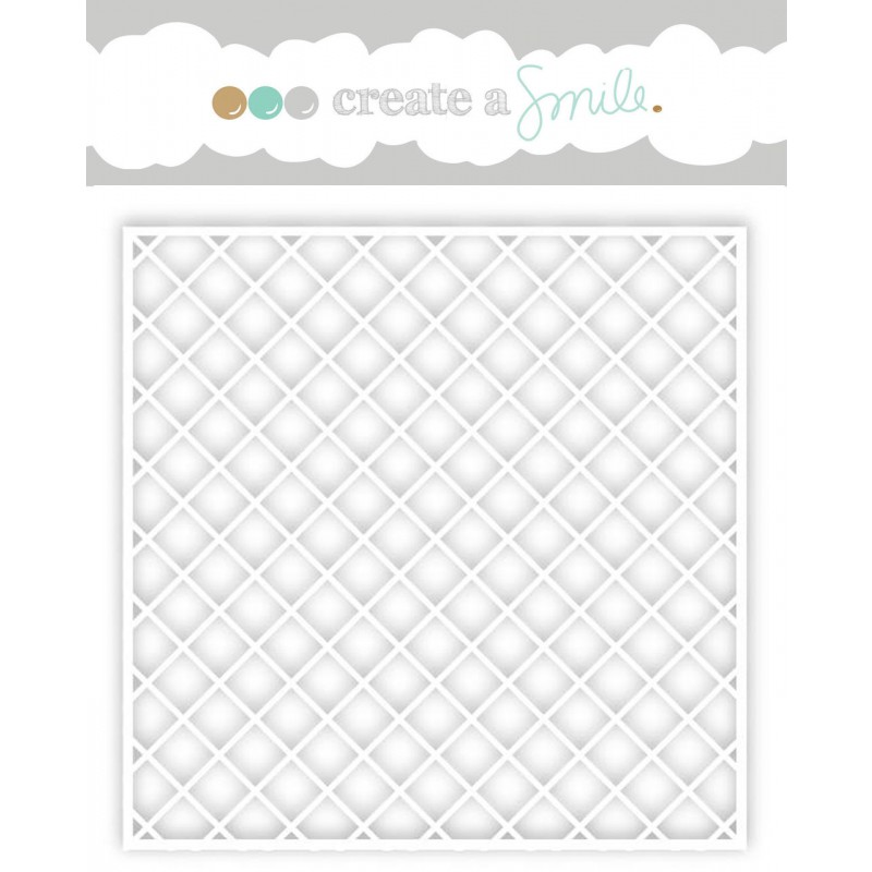 Create A Smile Stencil - Diagonal Grid