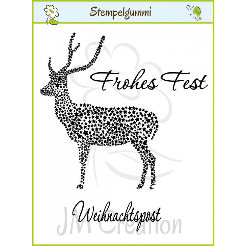 JM Creation - Sternenhirsch - Cling Stamp