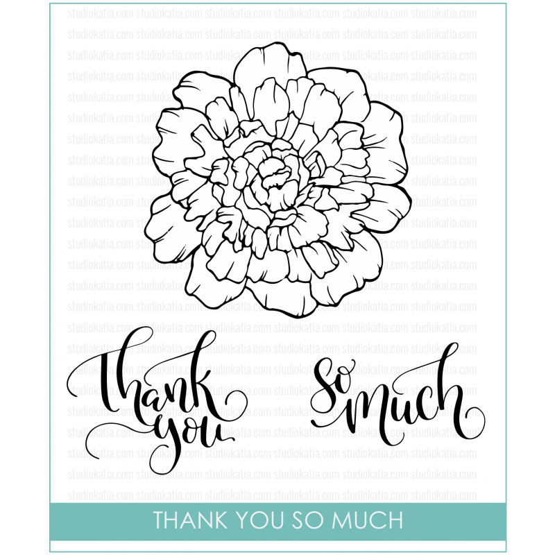 Studio Katia - Thank You So Much - Clear Stamp