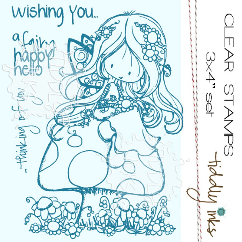Tiddly Inks - Stempelset 3x4 - Fairy Happy Day