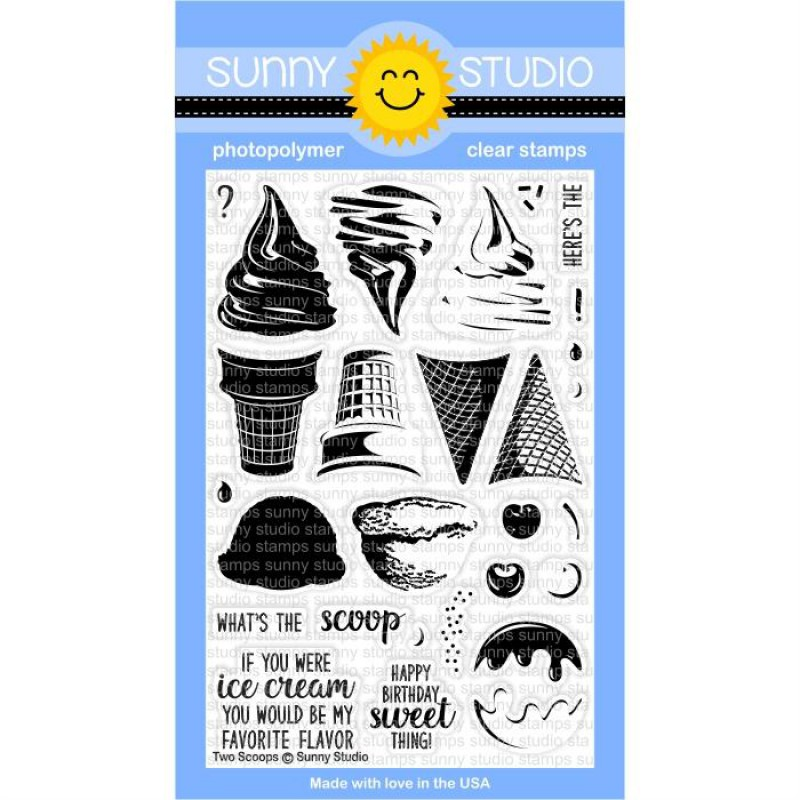Sunny Studio - Two Scoops - Clear Stamps 4x6