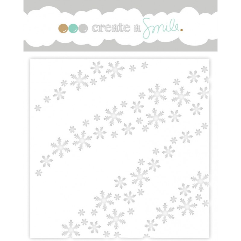 Create A Smile Stencil - Wave Of Snowflakes