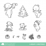 Mama Elephant - A Beary Christmas - Clear Stamps 4x6