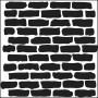 The Crafters Workshop - Schablone 6x6 - Bricks