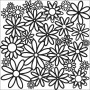 The Crafters Workshop - Schablone 6x6 - Daisy Cluster