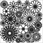 The Crafters Workshop - Schablone 6x6 - Flower Frenzy