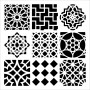 The Crafters Workshop - Schablone 6x6 - Maroccan Tiles