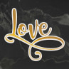Couture Creations - Cut, Foil & Emboss Die - Love