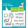 Lawn Fawn - Llama Tell You - Clear Stamp 2x3